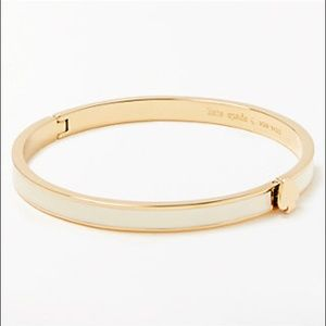 •Kate Spade• white and gold hinge bracelet